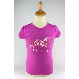 Animal Tails - T-Shirt Pink/Pferd 18-24 Monate